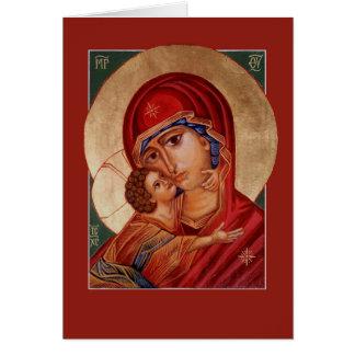 Blessed Virgin Mary Theotokos Greeting/Prayer Card