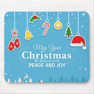 Blessed with Peace & Joy Christmas | Mousepad