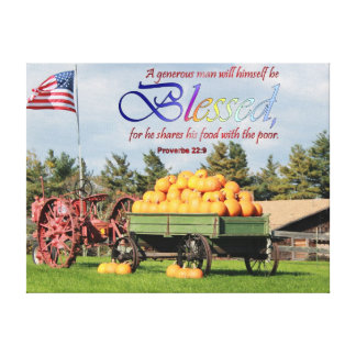 Blessed with Pumpkins and Patriotism Canvas Print