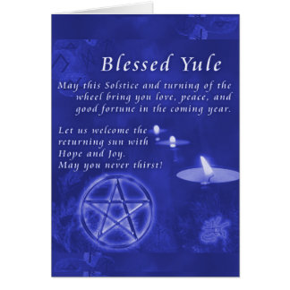 Blessed Yule Note Card