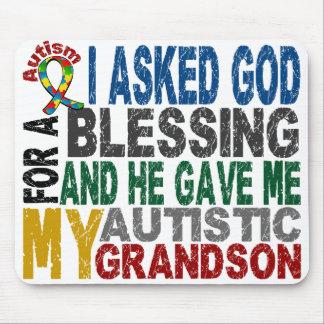 Blessing 5 GRANDSON Autism T-Shirts & Apparel Mouse Mat