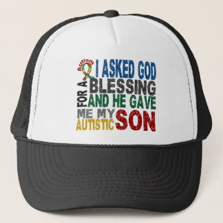 Blessing 5 SON Autism T-Shirts & Apparel Trucker Hat