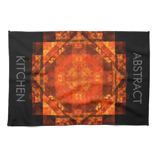 Blessing Abstract Art Kitchen Towel | Zazzle