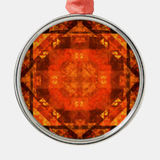 Blessing Abstract Art Round Christmas Ornament