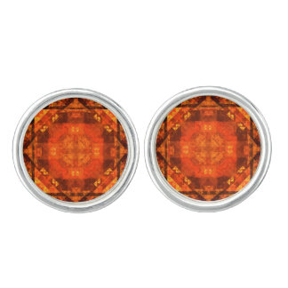 Blessing Abstract Art Silver Plated Cuff Links
