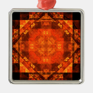 Blessing Abstract Art Square Christmas Ornament