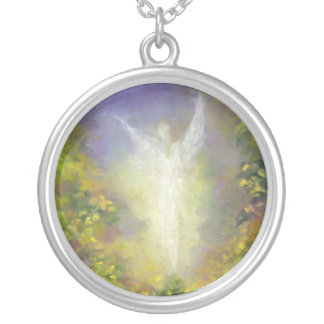 Blessing Angel Silver Plated Necklace