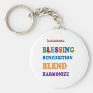 Blessing Benediction Blend Harmonize Christ BABY Basic Round Button Key Ring