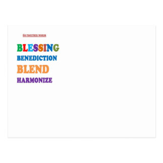 Blessing Benediction Blend Harmonize Christ BABY Post Card