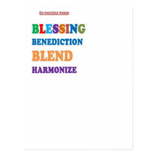 Blessing Benediction Blend Harmonize Christ BABY Postcard
