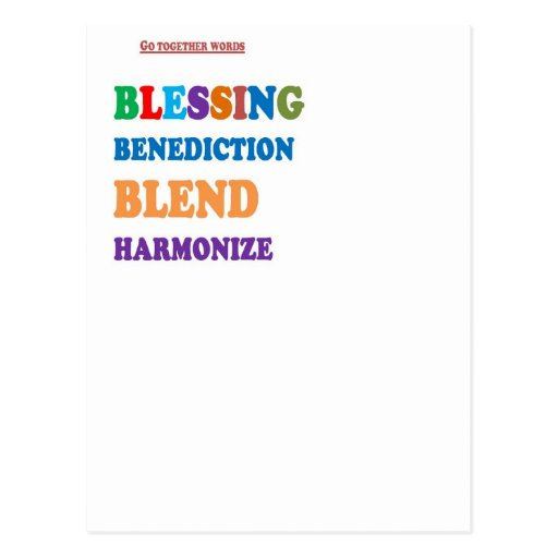 Blessing Benediction Blend Harmonize Christ BABY Post Cards