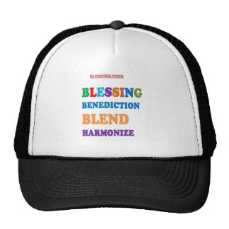 Blessing Benediction Blend Harmonize Christ Cap