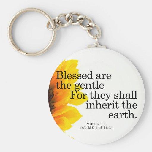 Blessing for Gentleness Matthew 5:5 Keychain