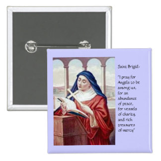 Blessing From Saint Brigid 15 Cm Square Badge