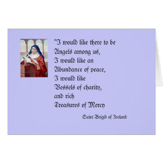Blessing From Saint Brigid Greeting Card