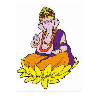 Blessing Ganesha Postcard