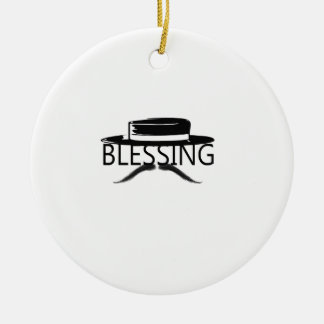 Blessing in Disguise copy.jpg Round Ceramic Decoration