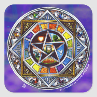 Blessing of Elements Square Sticker