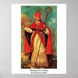 Blessing Of St. Nicholas By Francesco Guardi Print