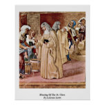 Blessing Of The St. Clare By Lorenzo Lotto Poster