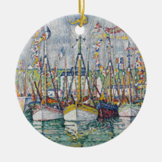 Blessing of the Tuna Fleet at Groix, 1923 Christmas Ornament
