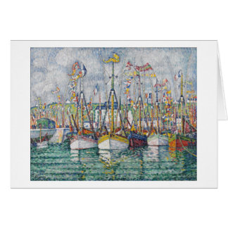 Blessing of the Tuna Fleet at Groix, 1923 Greeting Card