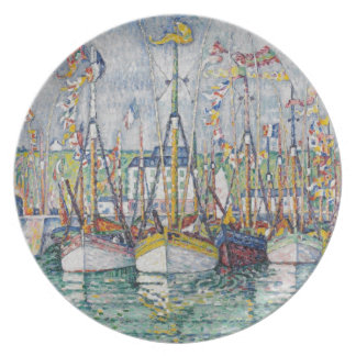 Blessing of the Tuna Fleet at Groix, 1923 Plate
