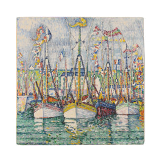 Blessing of the Tuna Fleet at Groix, 1923 Wood Coaster