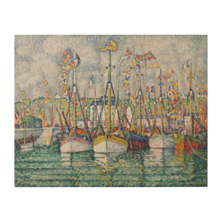 Blessing of the Tuna Fleet at Groix, 1923 Wood Wall Art