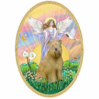 Blessing - Wheaten Terrier 2C Standing Photo Sculpture