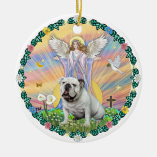 Blessings - English Bullding (white) Ornament