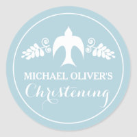 Christening Invitation Sticker