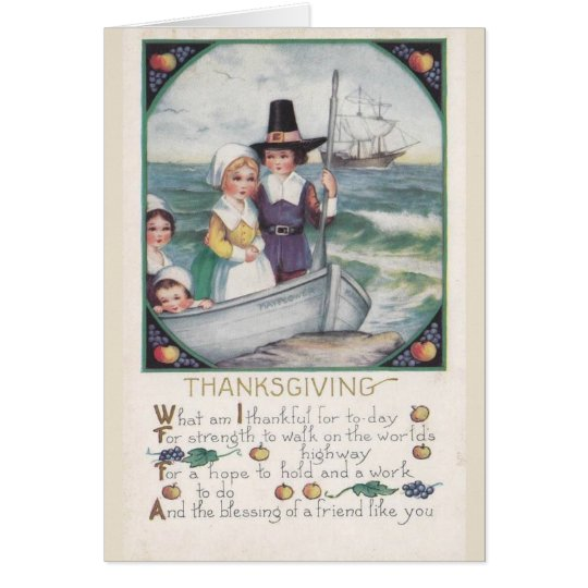 Blessings of Friends at Thanksgiving, Card