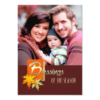 Blessings of the Season. Thanksgiving Photo Cards Announcements