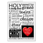 Blessings on Your Birthday, Christian Typography Card