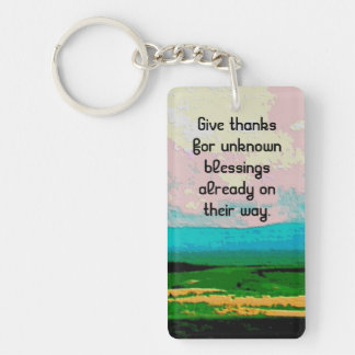 blessings rural scene Double-Sided rectangular acrylic keychain