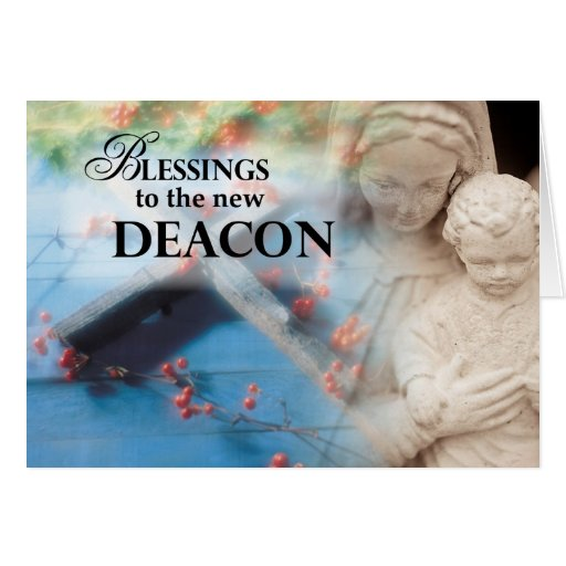 Blessings to the New Deacon Card