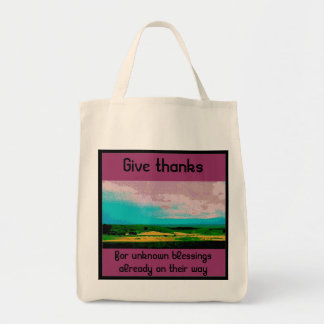 blessings tote grocery tote bag