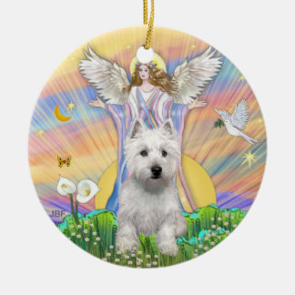 Blessings - Westie (P) Christmas Ornament