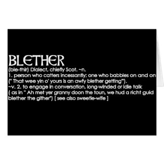 Blether Greeting Card