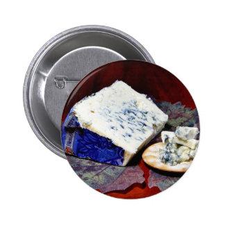Bleu Dauvergne Cheese 6 Cm Round Badge