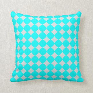 bleu et  gris  patterns throw cushion