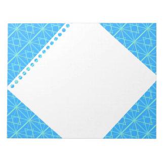 bleu parterns note pads