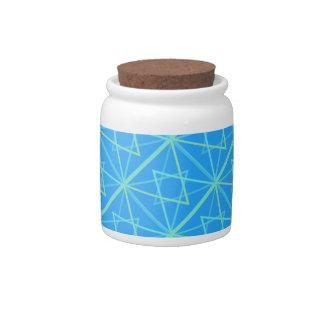 bleu patterns candy jars