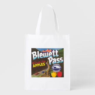 Blewett Pass Apple Label - Cashmere, WA Reusable Grocery Bag