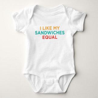 BLgT I Like My Sandwiches Equal Baby Bodysuit