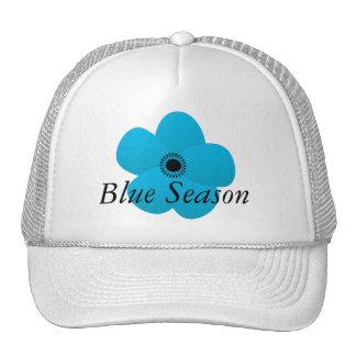 Blight Blue Holiday Season Flower Gift Hat