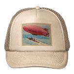 Blimp Dirigible Airship Card Retro Vintage Kitsch Cap
