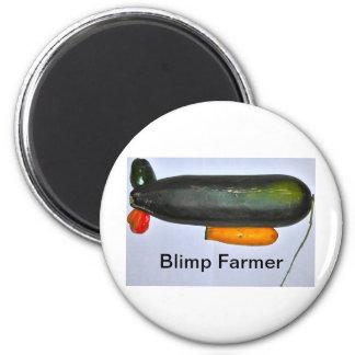 Blimp Farmer Fridge Magnets