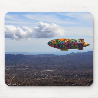 Blimp over Woodland Hills Mouse Pad